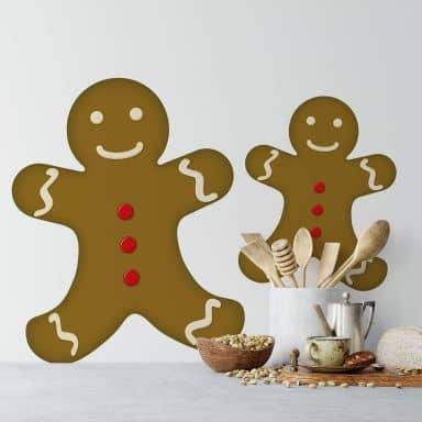 Sticker mural - Gingerbread Man