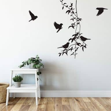 Liana with Birds Wall sticker