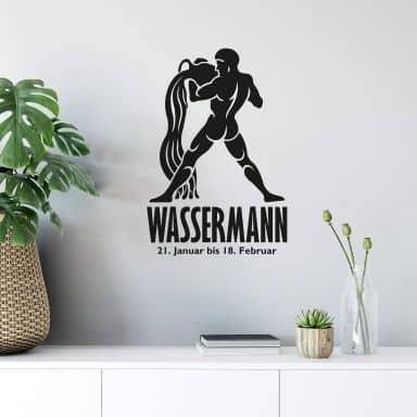 Wandtattoo Sternzeichen - Wassermann