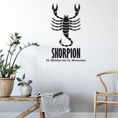 Wandtattoo Sternzeichen - Skorpion