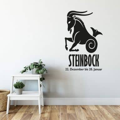 Wandtattoo Sternzeichen - Steinbock