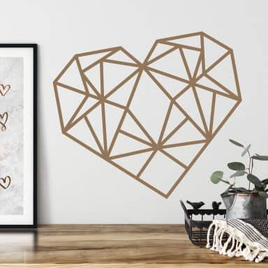 Wall sticker origami heart