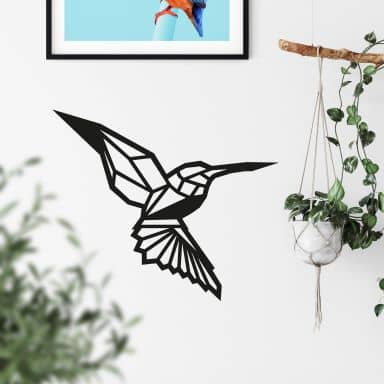 Wall sticker origami hummingbird