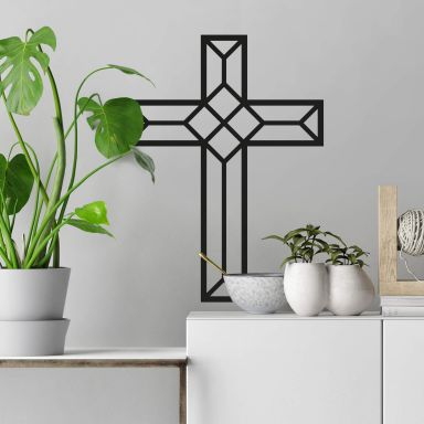 Wall sticker Origami Cross