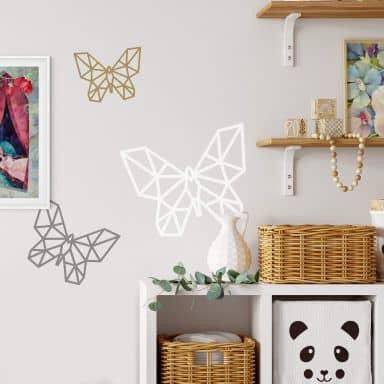 Sticker mural Papillon origami