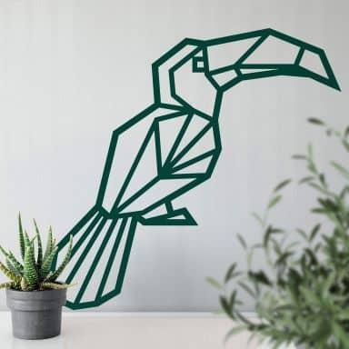 Wall sticker origami toecan