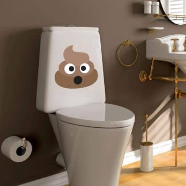 Wall Sticker Emoji Pile of Poo