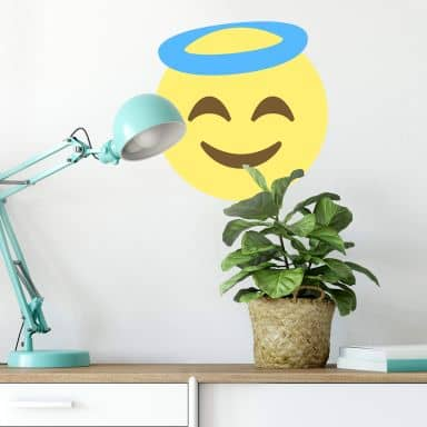 Wandtattoo Emoji Smiling Face with Halo