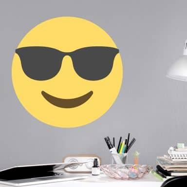 Wall Sticker Emoji Sunglasses