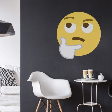 Wandtattoo Emoji Thinking Face