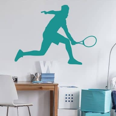 Wall sticker Tennisplayer male 02