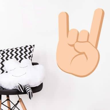 Wandtattoo Emoji Let's Rock