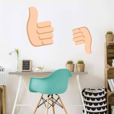 Wandtattoo Emoji Thumbs Up