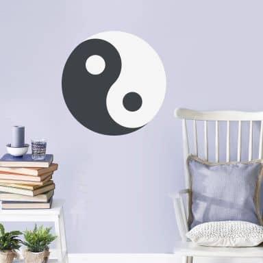 Wall Sticker Emoji Yin Yang