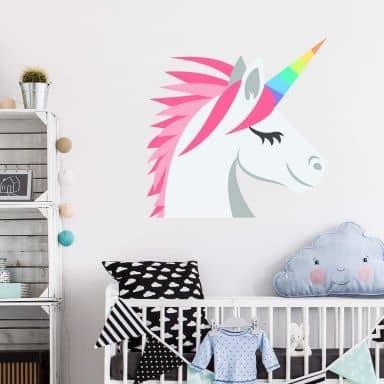 Wall Sticker Emoji Unicorn
