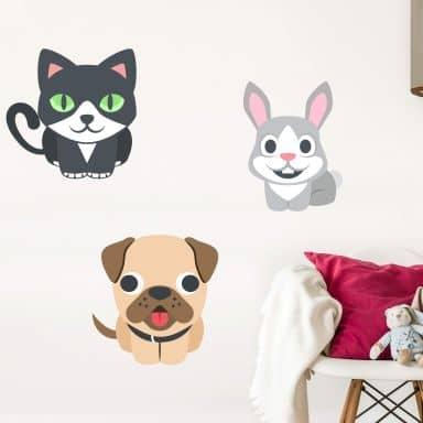 Wall Sticker Emoji Pets