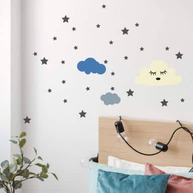 Wall sticker set Sleeping Clouds and Stars