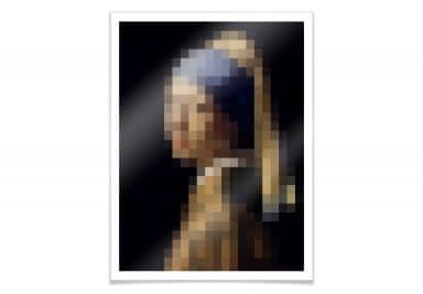 Poster Pixelart – Vermeer – The girl..