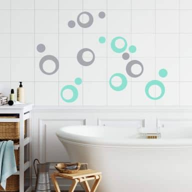 Sticker carrelage : Cercles