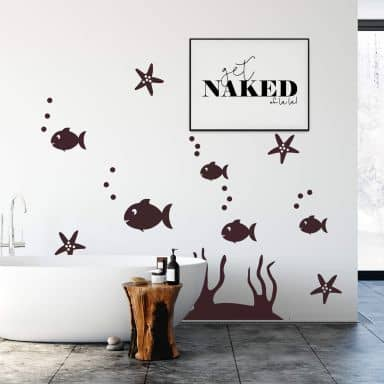 Tile decor: Fish set 1 Wall sticker