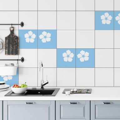 Tile decor: Jade flower Wall sticker
