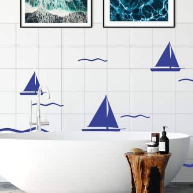Tile decor: Regatta Wall sticker