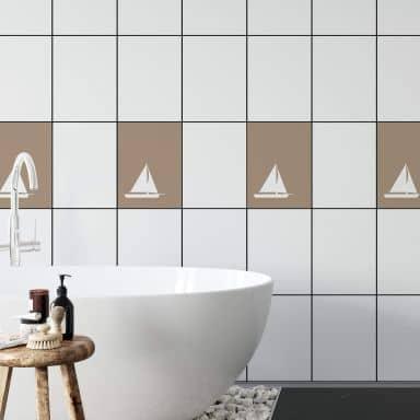 Tile decor: Boat Wall sticker
