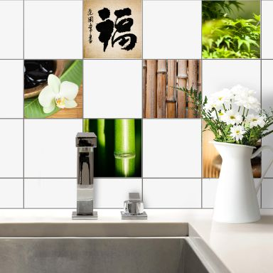 Asian Spa Tile Stickers