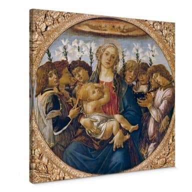 Botticelli - Madonna with Child and Eight Angels Canvas print