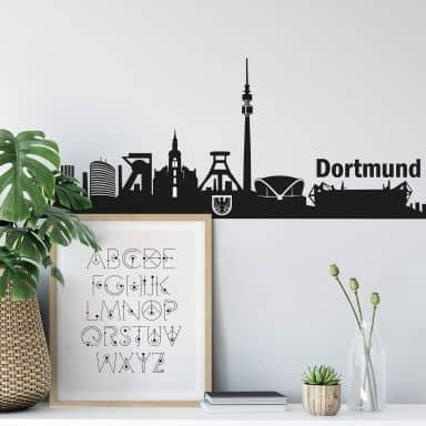 Wandtattoo Dortmund Skyline