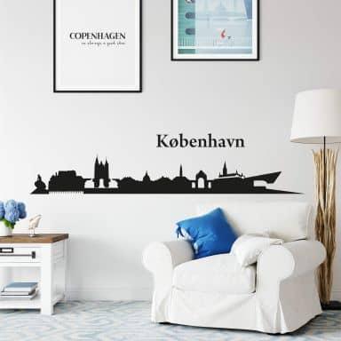 Adesivo murale - Profilo di Kopenhagen