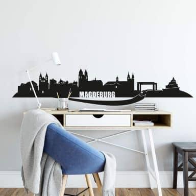 Wandtattoo Magdeburg Skyline
