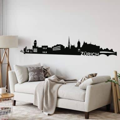 Skyline Zurich Wall sticker