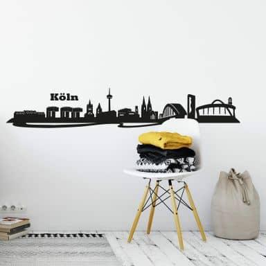 Wandtattoo Köln Skyline 3
