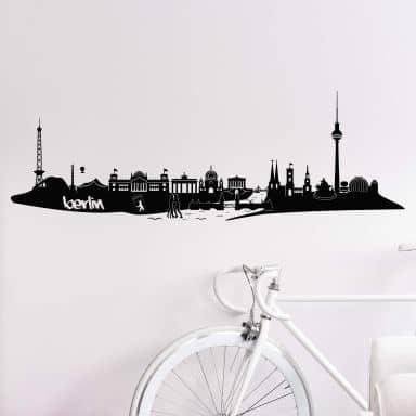 Wandtattoo Berlin Skyline 3