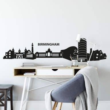 Adesivo murale - Profilo di Birmingham