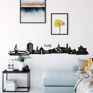 Adesivo murale - Profilo di Cardiff