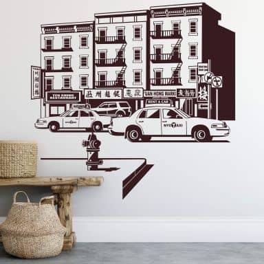 New York Chinatown - Wall Sticker