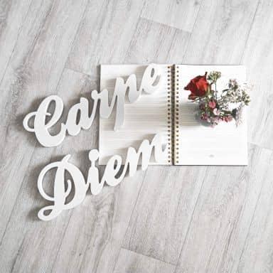 Lettere decorative - 3D Carpe Diem