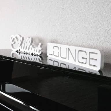 Lettres décoratives - Chillout Lounge