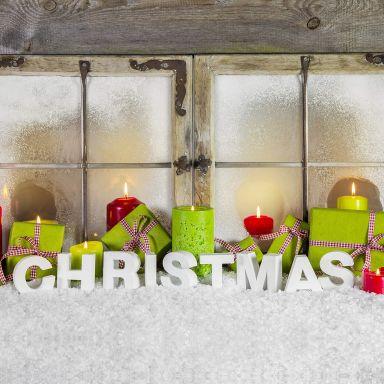 Dekobuchstaben 3D Christmas