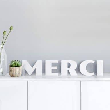 Lettere decorative - Merci