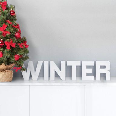 3D WINTER 3D letter