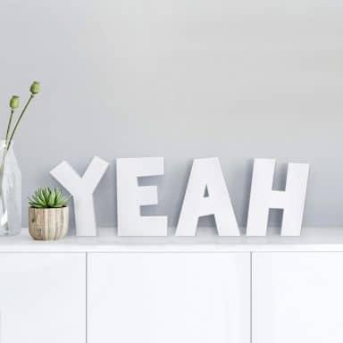 Lettre décorative - 3D Yeah