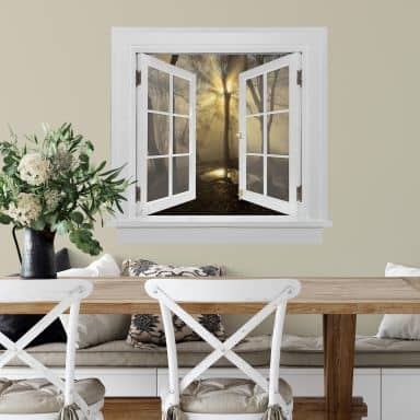 3D Wandtattoo Fenster quadratisch - Cuadrado - Light