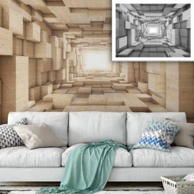 Fotomurale Tunnel 3D