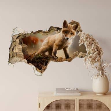 3D Wandtattoo Adamec - Junger Fuchs