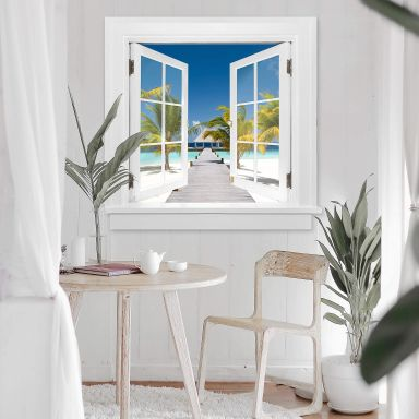 Trompe L'oeil Wall sticker Way to Paradise