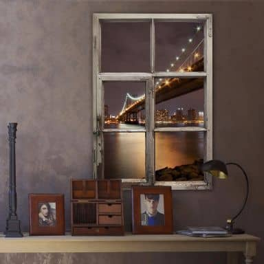 Trompe L'oeil Wall sticker Manhattan Bridge Night