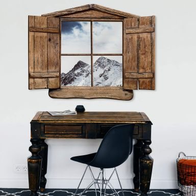 Trompe L'oeil Wall sticker Snow Mountain
